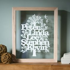 Kyleighs Papercuts: Family tree