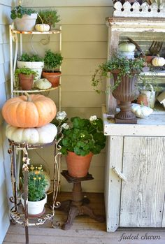 Faded Charm: ~A Little Color on the Porch~
