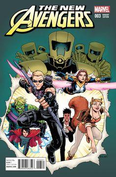 New Avengers Vol. 4 # 3 (Variant) by Chris Burnham