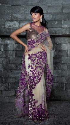 There are a wide variety of saris/sarees worn across India with differences in terms of fabric, draping, style of wearing and the pattern of the sari wear.  The Bandhani Sari wear is a dyeing style that implies translated tie and dye.