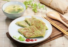 Celery and Water Chestnut Pancake
