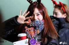 SNSD Tiffany deers airport fashion