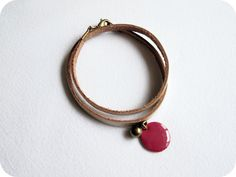 Image of Bracelet cuir & breloque ***Jeune fille***