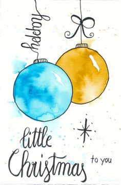 Make yourself Christmas cards – watercolor with watercolor pencils and hand lettering. Watercolor Christmas Cards, Christmas Drawing, Diy Christmas Cards, Christmas Paintings, Watercolor Cards, Little Christmas, Xmas Cards, Christmas Art, Diy Cards