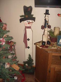 Primitive Christmas Wood Crafts