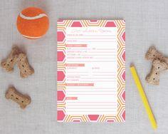 Hexagon Pet Sitter Notepad Pinks/Oranges | Meredith Collie Paper