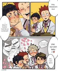 Goshiki the love child of Wakatoshi ans Satori :P - Haikyuu!! and some normal conversation in Shiratorizawa