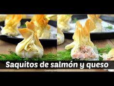 Cuuking! Recetas de cocina: Saquitos de philo con salmón y Philadelphia
