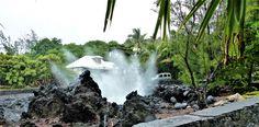 Au port de Langevin. 1 Souffleur de l'île de La Réunion Maurice, Waterfall, France, In This Moment, Outdoor, Reunions, Magic, Travel, Outdoors