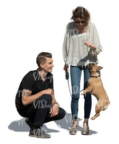 cut out man and woman playing with a dog Cut Out People, Men And Women, Hipster, Dog, Woman, Style, Fashion, Diy Dog, Swag