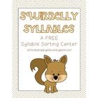 Squirrelly+Syllables+is+one+of+the+centers+available+in+my+September+Smarties+{10+Literacy+Centers}+packet.  In+Squirrelly+Syllables,+students+will...