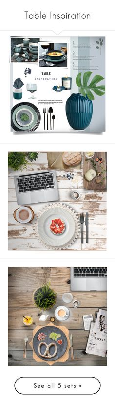 """""""Table Inspiration"""" by dittestegemejer ❤ liked on Polyvore featuring interior, interiors, interior design, home, home decor, interior decorating, Le Creuset, Bitossi, A by Amara and Royal Copenhagen"""
