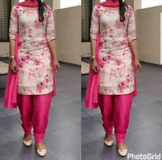 Churidar Designs, Kurta Designs Women, Kurti Neck Designs, Dress Neck Designs, Saree Blouse Designs, Punjabi Suit Simple, Punjabi Dress, Punjabi Suits, Suit Fashion