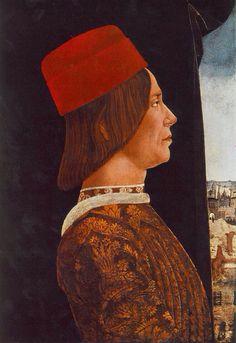 ab. 1480 Ercole de' Roberti - Portrait of Giovanni II Bentivoglio R