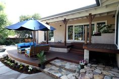 ranch style deck | Custom Made Custom Deck For A Mid-Century Ranch Style Home