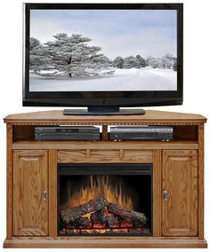 "LG-SD5102 - Scottsdale 56"" Fireplace Corner TV Stand"