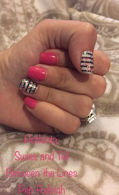 I'm loving this bright mani, perfect for those hot summer days! If you've never used Color Street nail strips, you're missing out! They're nail polish in stick on strip form. They require no heat Striped Nails, White Nails, Pink Nails, Colorful Nail Designs, Cute Nail Designs, Nail Color Combos, Nail Colors, Fancy Nails, Pretty Nails