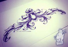 Лепнина - татуировка фото и эскиз от тату-мастера Ольга Соснова в стиле , ,