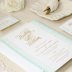 Vintage Lace Letterpress Wedding Invitation | Duncan Park Papers | Kimberly FitzSimons