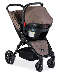 Britax BAgile 4BSafe 35 Travel System Fossil Brown ** Details can be found by clicking on the image.