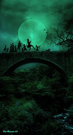 I wish Pied Piper could play me a song and walk me through the dark world dimmed by the moonlight. Fairy Land, Fairy Tales, Fantasy World, Fantasy Art, The Journey, Fairytale Art, Moon Art, Nocturne, Moonlight