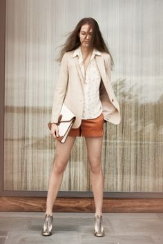 Love the color on those shorts. Club Monaco online site up for Facebook fans.