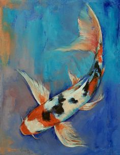 Sanke Butterfly Koi | Michael Creese could shade BACKGROUND with colored pencils, use watercolor pencils, or use salt or rice for textured water effects