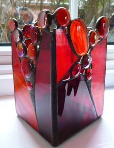 stained glass candleholder - or table lamp