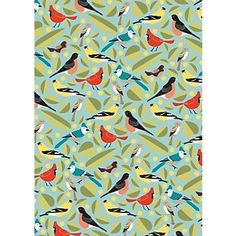 Paper Birds Wrapping Paper http://itz-my.com