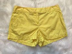 J.CREW womens Broken In chino shorts classic twill Yellow size 10    eBay