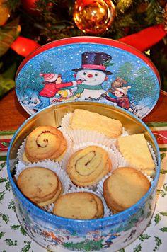 Caja con biscuits variadas. AnAna´s Biscuits: Biscuits de Navidad!!