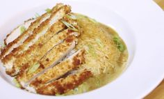Chicken Katsu Curry: This dish has been made famous in the UK by the restaurant Wagamama and now were sharing with you how to make it for yourself! A simple Japanese curry consisting of crispy breaded chicken, a mound of rice and a glossy curry sauce.