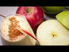 Smoothie cu fulgi de ovăz, curmale și mere - YouTube Smoothies, Vegan, Fruit, Youtube, Food, Smoothie, Essen, Meals, Vegans