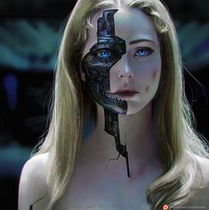 Ideas For Cyborg Concept Art Cyberpunk Arte Cyberpunk, Cyberpunk Girl, Cyberpunk Aesthetic, Cyberpunk 2020, Character Inspiration Fantasy, Chica Cyborg, Robot Makeup, Cyborg Girl, Robot Girl