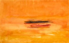 Helen Frankenthaler - Lighthouse Series II, 1999, acrylic on paper