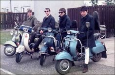 Classic Mod scooters
