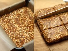 No-Bake Banana Nut & Date Protein Bars.  Vegan and gluten-free.  COOL snack bar idea, especially if on-the-go alot, running a bunch of extra miles, or on a trip/out on the beach!