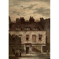Old London 1900 Dyott St Bloomsbury Canvas Art - Waldo Sergeant (24 x 36)