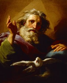 God the Father and the Holy Spirit by Pompeo Batoni, (1708-1787)