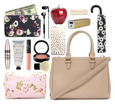 """""""Alison Dilaurentis inspired bag essentials - updated"""" by liarsstyle ❤ liked on Polyvore featuring Forever 21, Merona, Maybelline, NARS Cosmetics, MAC Cosmetics, Zara, Skullcandy, Cara and bagessentials"""