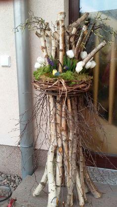 deco-the spring-easter-Behiye- deko-fruhjahr-ostern-behiye deco-spring-easter-behiye – – - Diy Easter Decorations, Christmas Decorations, Wedding Decorations, Twig Art, Deco Champetre, Deco Nature, Deco Floral, Easter Wreaths, Spring Crafts
