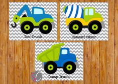 *THIS LISTING IS FOR THE DIGITAL JPG FILE ONLY. NO PHYSICAL PRINT IS SHIPPED* Instant Download Boys Construction Truck Vehicles Wall Art Toddler Bedroom Playroom Decor Trucks Lime Green Navy Blue 3 - 8x10 Digital JPG You will receive 3 High Resolution JPG files for you to print and
