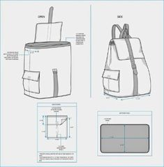 The Spinsterhood Diaries: Sample Fashion Project: Backpack Tech Pack leather belt around Jean Backpack, Diy Backpack, Drawstring Backpack, Mochila Jeans, Backpack Tutorial, Tech Pack, Recycle Jeans, Leather Pattern, Leather Backpack Pattern