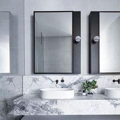 60 Gorgeous Bathroom Countertops Ideas That Make Your Bathroom Look Elegant - Millions Grace Grey Bathrooms, Modern Bathroom, Small Bathroom, Bathroom Ideas, Bathroom Pictures, Grey Marble Bathroom, Marble Bathrooms, Bathroom Renovations, Gray Bathroom Walls