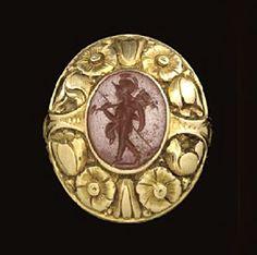 A ROMAN RED JASPER RING STONE - CIRCA 2ND CENTURY A.D.