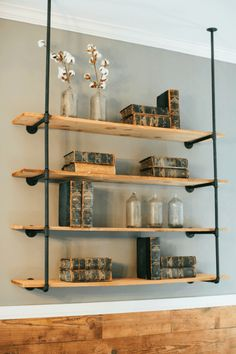 DIY Shelves floating | easy | bedroom | ladder | garage | bathroom | wall | storage | kitchen | closet | for kids room | bookshelves | rustic | cheap | wood #shelves