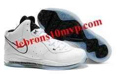 5a31c7c326d1 Nike LeBron 8(VIII) Shoes White Black