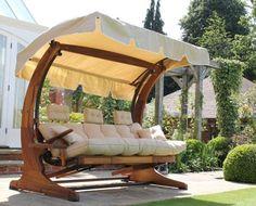 Huśtawka 3 osobowa Saragossa - Huśtawki ogrodowe - Ogrodowy Salon