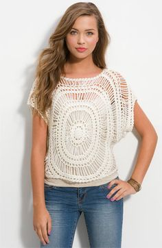 Crochetemoda: Crochet - Blusa Circular