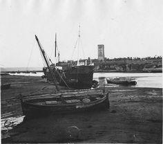 Rabat  Tour Hassan   L'oued Bouregreg et la Tour Hassan au coucher du soleil, la barque du sultan    1916.05.14